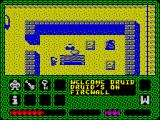 Enlightenment ZX Spectrum I thought these squares had question marks on them. The game says I'm on a firewall so perhaps they are flames