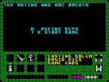 Enlightenment ZX Spectrum Game over. Ranking is 'Orcs Breath'. That's pretty strong isn't it?