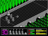 Highway Encounter ZX Spectrum There's a short animated sequence  at the start of the game. The white Vorton pushes the small pyramid/lasertron into the highway, then all its friends line up behind.