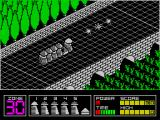 Highway Encounter ZX Spectrum So now we have a convoy. The player controls the lead Vorton who has a gun. There are 30 zones to get through, the counter in the bottom left decreases as the player progresses