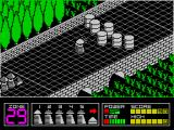 Highway Encounter ZX Spectrum The first obstacles. These oil drums can be moved by running into them or by shooting them. The convoy will run into an obstacle and stop. It will stay there until the obstacle is moved