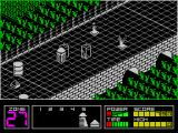 Highway Encounter ZX Spectrum One zone further on and there are some blocks that cannot be moved or destroyed and some baddies that cannot be killed.
