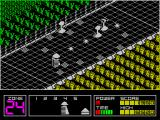 Highway Encounter ZX Spectrum The lighter coloured squares on the road are obstacles and the player must go around these