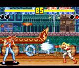 Fatal Fury 2 SNES Brotherly Love: Andy Bogard vs. Terry Bogard in the canals of Venice