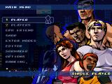 Streets of Rage Remake Windows Main menu (2011 version)