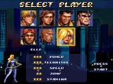 Streets of Rage Remake Windows Character selection screen, with Elle unlocked as a secret character (2011 version)