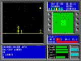 Tau Ceti ZX Spectrum So now the player is flying over the planets surface. Some targets are static - like these towers, others move around