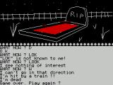 Ten Little Indians ZX Spectrum Oh Dear! Game Over - and I thought I was doing so well