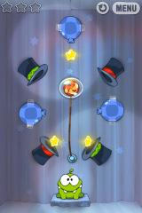 Cut the Rope iPhone Level 7-8, the new magic hats are combined with all the other game play elements