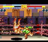Fatal Fury 2 SNES Cheng throws second boss Axel Hawk