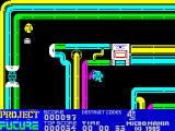 Project Future ZX Spectrum ... who re-spawns directly under Farley as he passes