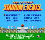 Stadium Events NES Title screen (Bandai U.S. release)