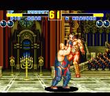 Fatal Fury 2 SNES Big Bear grabs end boss Wolfgang Krauser