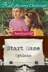 American Girl: Kit Mystery Challenge Nintendo DS Main menu.