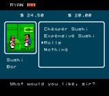 River City Ransom NES Sushi bar