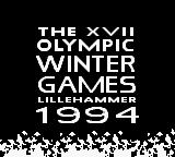 Winter Olympic Games: Lillehammer '94 Game Boy Title screen
