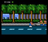 River City Ransom NES Forest battle