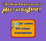 The New Adventures of Mary-Kate & Ashley Game Boy Color Main Menu