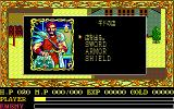Ys II: Ancient Ys Vanished - The Final Chapter PC-88 This weapon seller looks like he failed an audition for the role of Kratos in God of War games