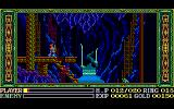 Ys III: Wanderers from Ys PC-88 Exploring the caverns. Waterfall area. Nasty red birds and blue/green mean dudes