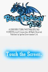 Blue Dragon Plus Nintendo DS Title screen.
