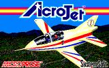Acrojet PC-88 Title screen