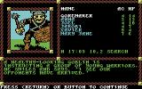 "Pool of Radiance Commodore 64 A fight with a ""class"" of training goblins begins!"