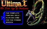 Ultima I: The First Age of Darkness PC-88 Title screen + Main menu