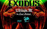 Exodus: Ultima III PC-88 Title screen