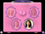 Barbie Beauty Styler Windows When a model is selected the player gets the choice of a close up or a full length picture to play with. This is chosen by clicking on one of the icons in the upper central window