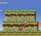 Super Ninja-kun SNES By defeating bosses you get new weapons. This time it's bombs.