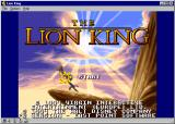 The Lion King Windows Title Screen and Copyright Information (Large Size)