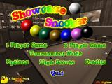 10 Great Games Just For Dad! Windows Showcase Snooker : The main menu. Looks a bit like Showcase Pool doesn't it?