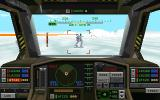 Metaltech: EarthSiege DOS Cockpit view of your HERC - target in sight!