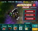 Asteroids Online Browser Main Screen
