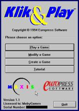 Klik & Play Windows 3.x US version