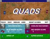 Klik & Play Windows 3.x Quads - 2 player game involving knocking your opponent down into a hole