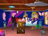 Detective Barbie: The Mystery Of The Carnival Caper! Windows Barbie is below the stage. This is  where Ken must have gone. Should be some clues here.