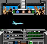 Godzilla 2: War of the Monsters NES choose your weapon for attack and then 'roll' those three symbols in the center of the screen to find out if it succeeds or not