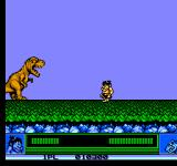 Joe & Mac: Caveman Ninja NES The first boss... hit him in the head to kill him