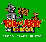 Tom and Jerry: The Movie Game Gear Title screen