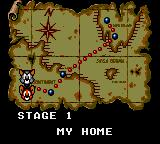 Tom and Jerry: The Movie Game Gear Map screen