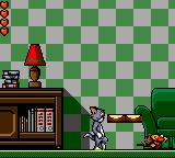 Tom and Jerry: The Movie Game Gear Jerry running away from us