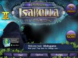 Princess Isabella: A Witch's Curse iPad Title / main menu