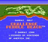 Bandai Golf: Challenge Pebble Beach NES Title Screen