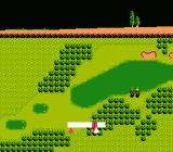 Bandai Golf: Challenge Pebble Beach NES Ball bouncing on fairway