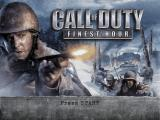 Call of Duty: Finest Hour GameCube Title Screen
