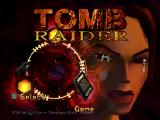Tomb Raider PlayStation Title Screen.
