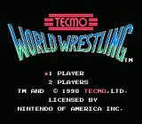 Tecmo World Wrestling NES Title Screen