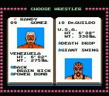 Tecmo World Wrestling NES Randy Gomez & Dr. Guildo